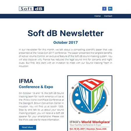 Soft dB Newsletter October 2017