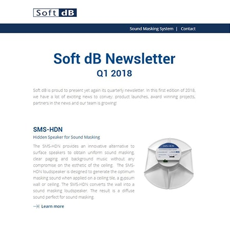 Soft dB Newsletter Q1 2018