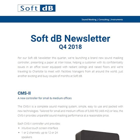 Soft dB Newsletter Q4 2018