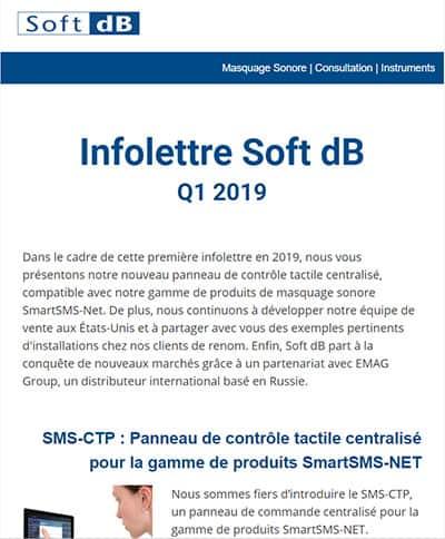 Infolettre Soft dB Q1 2019