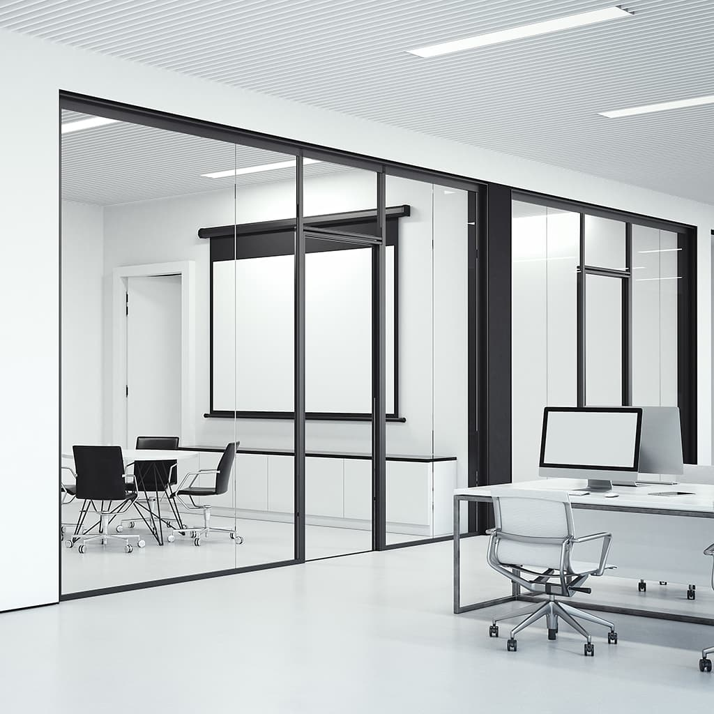 Movable walls in open offices