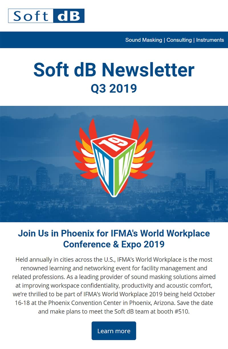 Soft dB Q3 2019 Newsletter