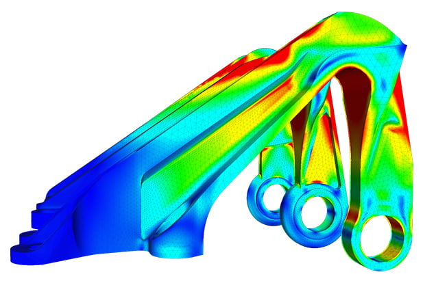 FEA - Aircraft bearing bracket