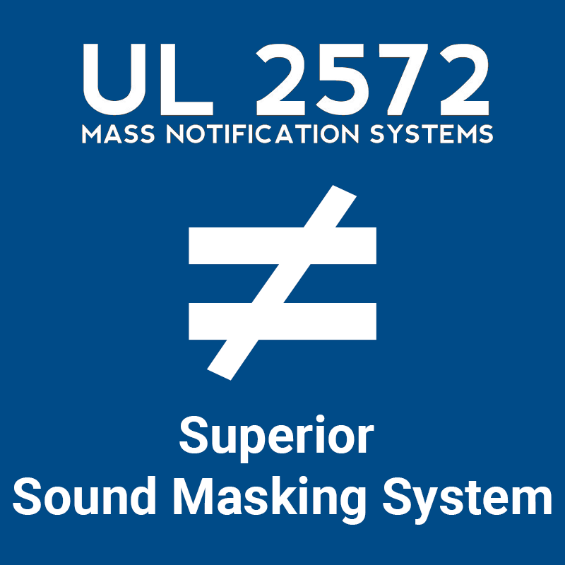 UL 2572 doesn't mean superior sound masking system