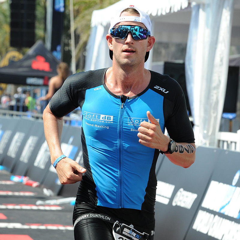 Jason Booij competing at the IRONMAN 70.3 World Championship in Nice